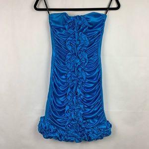 Jessica Mcclintock Party Dress Blue 4P Cocktail